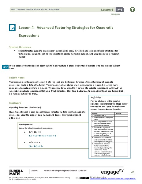 Factoring Polynomials Activity - Advanced | Activities and Students