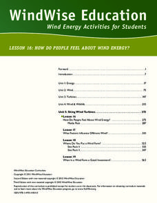 How Do You Feel About Wind Energy? Lesson Plan