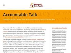 Accountable Talk Lesson Plan