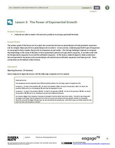 The Power of Exponential Growth Lesson Plan
