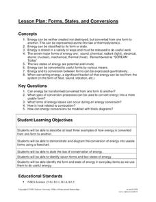 Forms, States, and Conversions Lesson Plan