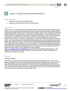 Base 10 and Scientific Notation Lesson Plan