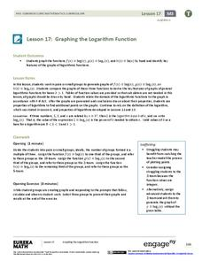 Graphing the Logarithmic Function Lesson Plan