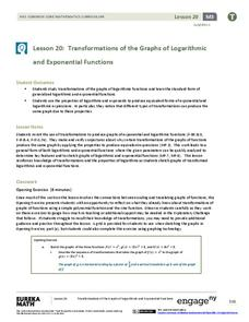 Transformations of the Graphs of Logarithmic and Exponential Functions Lesson Plan