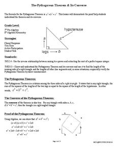 Pythagorean Theorem and Its Converse Lesson Plan
