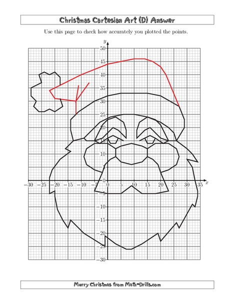 christmas cartesian art santa worksheet for 5th 8th grade lesson planet. Black Bedroom Furniture Sets. Home Design Ideas