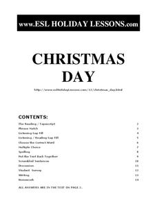 Christmas Day Worksheet