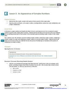 An Appearance of Complex Numbers 2 Assessment