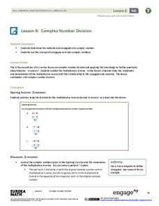 Complex Number Division 2 Lesson Plan
