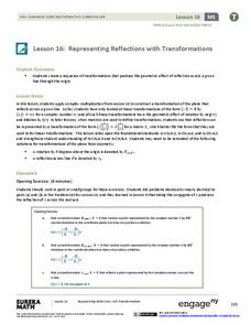 Representing Reflections with Transformations Lesson Plan