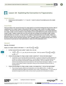 Exploiting the Connection to Trigonometry 1 Lesson Plan