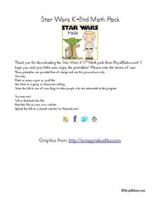 Star Wars K-2nd Math Pack Learning Game