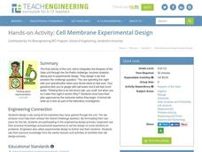 Cell Membrane Experimental Design Activities & Project