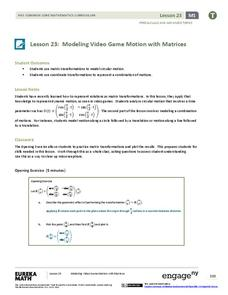 Modeling Video Game Motion with Matrices 2 Assessment