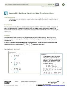 Getting a Handle on New Transformations 1 Lesson Plan