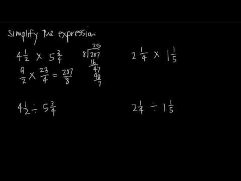 multiplication and division of mixed numbers video for 3rd