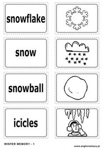 Winter Memory Learning Game