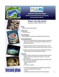 Methane Hydrates – What's the Big Deal? Lesson Plan