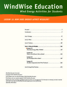 How Does Energy Affect Wildlife? Lesson Plan