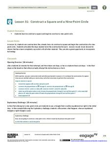 Construct a Square and a Nine-Point Circle Lesson Plan