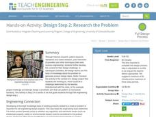 Design Step 2: Research the Problem Lesson Plan
