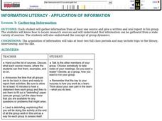 Gathering Information Lesson Plan