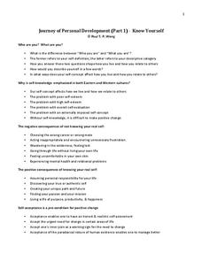personal development lesson plans worksheets reviewed by teachers