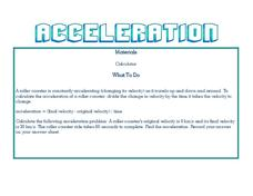 Acceleration Lesson Plan