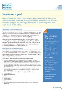 How to Set a Goal Handouts & Reference