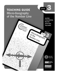 Micro-Geography of the Number Line Lesson Plan