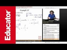 Solving Integrals Using Substitution Video