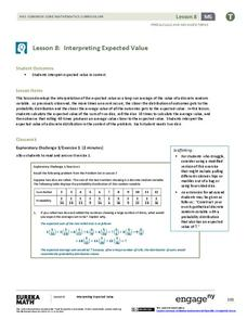 Interpreting Expected Value Lesson Plan