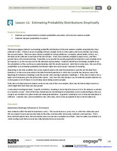 Estimating Probability Distributions Empirically 1 Lesson Plan