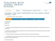 The Daily Experience of the Laurel Grove School, 1925 Lesson Plan