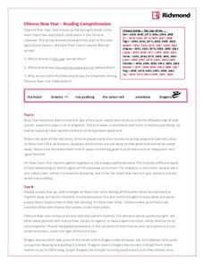 Chinese New Year – Reading Comprehension Worksheet
