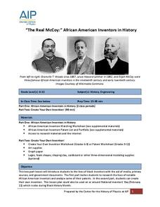 """The Real McCoy:"" African American Inventors in History Lesson Plan"