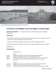 Civil War to Civil Rights: From Pea Ridge to Central High Lesson Plan