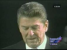 President Reagan 1981 Inaugural Address Video