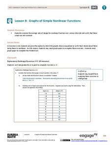 Graphs of Simple Nonlinear Functions Lesson Plan