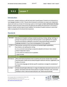 Paragraph Editing Practice Lesson Plans & Worksheets