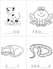 Animal Missing Letters Book Printables & Template for
