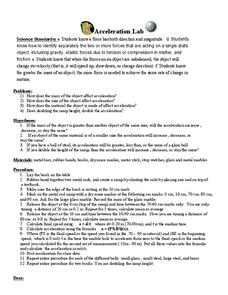 Acceleration Lab Worksheet
