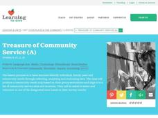 Treasure of Community Service (A) Lesson Plan