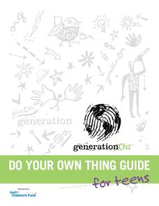 Do Your Own Thing Guide: For Teens Activities & Project