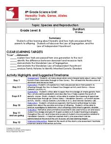 Heredity Lesson Plans & Worksheets | Lesson Planet