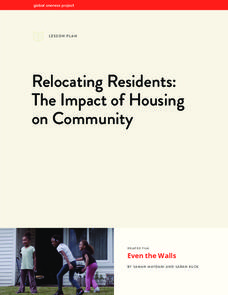 Relocating Residents: The Impact of Housing on Community Lesson Plan