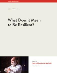 What Does it Mean to Be Resilient? Lesson Plan