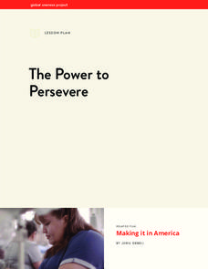 The Power to Persevere Lesson Plan