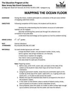 Mapping The Ocean Floor Lesson Plan