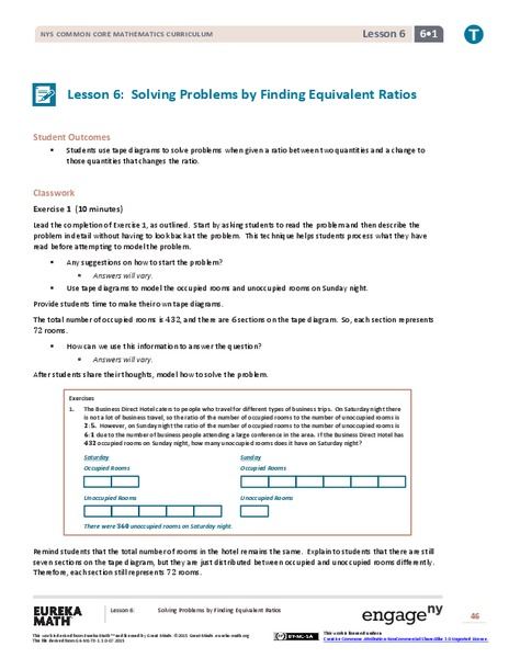 Solving Problems by Finding Equivalent Ratios II Assessment